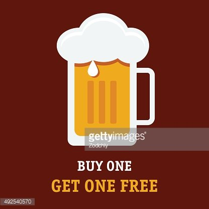 Buy one get one free advertisement plate