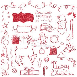Merry Christmas Doodles