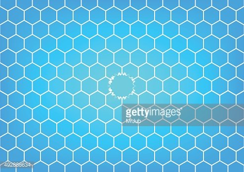 Soccer or Football net is torned in sky blue background