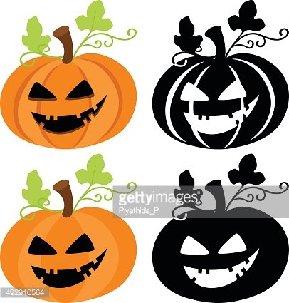 Halloween pumpkin isolated on white background.