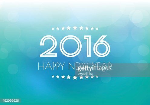 Happy New Year 2016 background.vector.