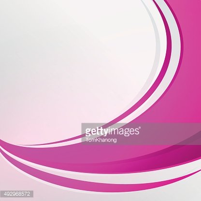 Bending Full pink color abstrac on white background