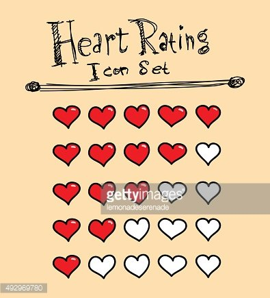Heart Rating Icons