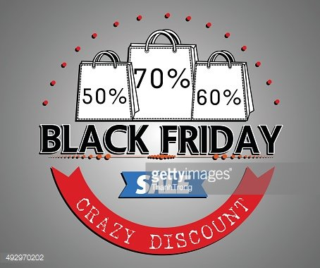 Black Friday shopping bag and sales tag marketing template.