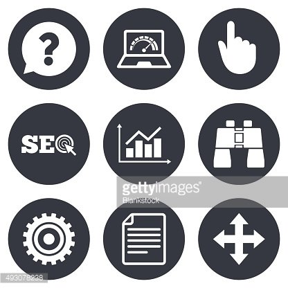 Internet, seo icons. Analysis chart sign