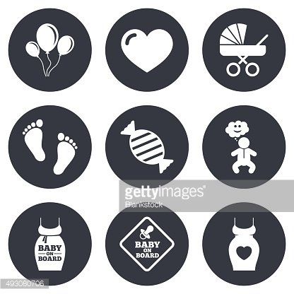 Pregnancy, maternity and baby care icons