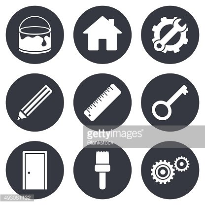 Repair, construction icons. Service signs