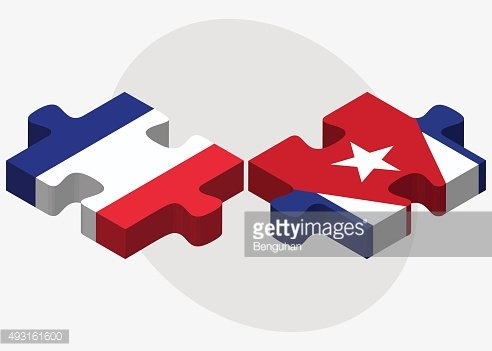 France and Cuba Flags