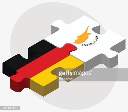 Germany and Republic of Cyprus Flags