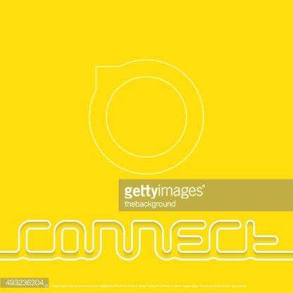 Connect - vector design template for book or CD cover