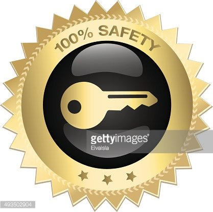 100% Safety seal or icon