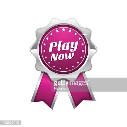 Play Now Pink Vector Icon Design