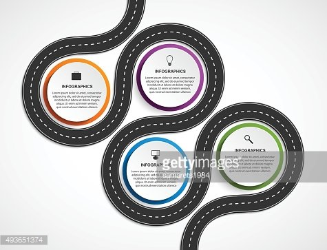 Abstract Road And Street Business Infographic Design Concept.