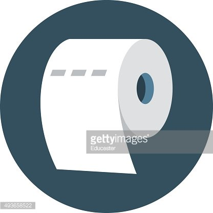 Tissue Roll Colored Vector Icon
