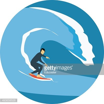 Water Skiing Colored Vector Icon