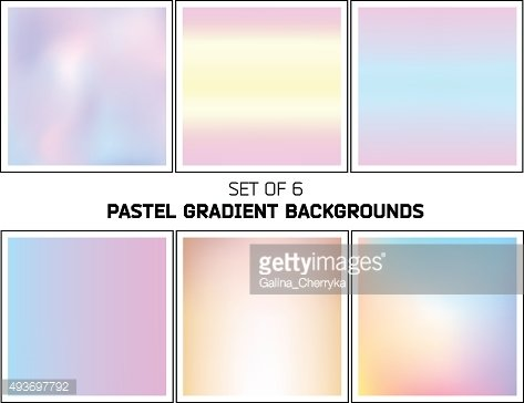 Bright pastel smooth blurred gradients vector backgrounds
