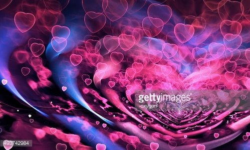 Valentine Hearts Background. Valentines Pink Abstract Wallpaper. Backdrop Collage
