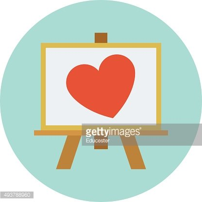 Love Canvas Colored Vector Illustration