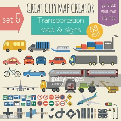 Great city map creator. Infrastructure, transport