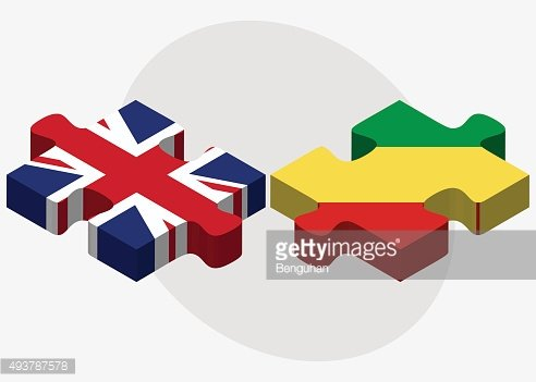 United Kingdom and Congo Flags