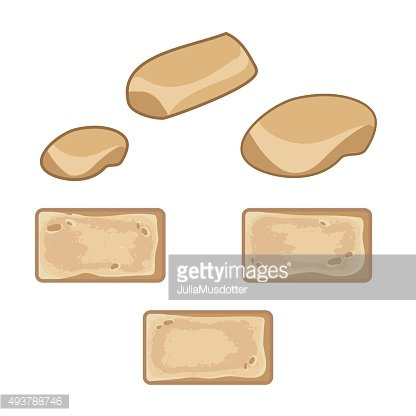 Set of sand colored stones