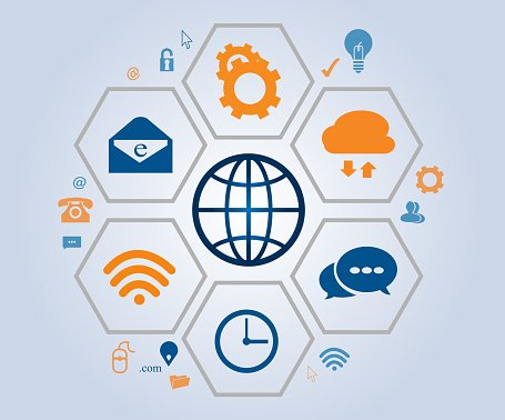 Business Communication example using icons