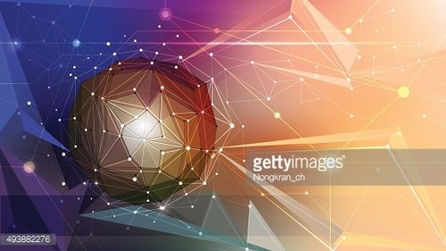 Vector illustration Abstract 3D Geometric, Polygonal shapes