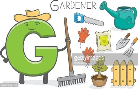 Alphabeth occupation - Letter G - Gardener
