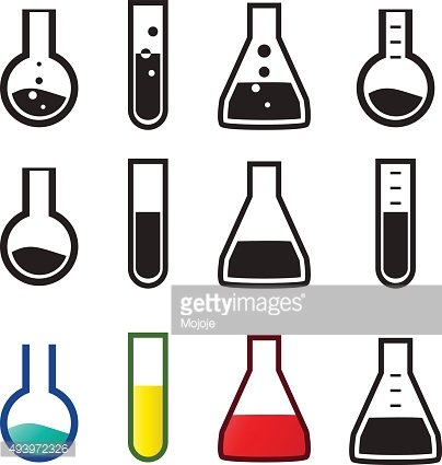 Chemical and lab icons, Vector