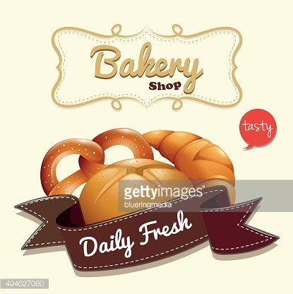 Bakery logo text bread