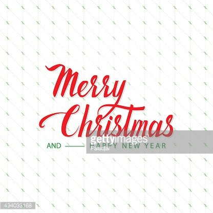 Merry Christmas Cursive Hand Letters.