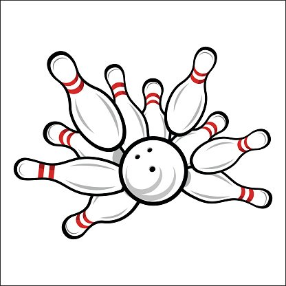 Bowling Team Or Club Emblem Premium Clipart