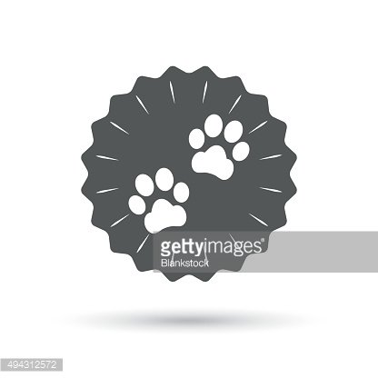 Paw sign icon. Dog pets steps symbol