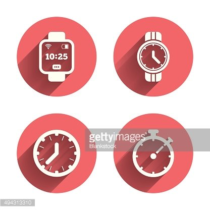 Smart watch. Mechanical clock time and timer