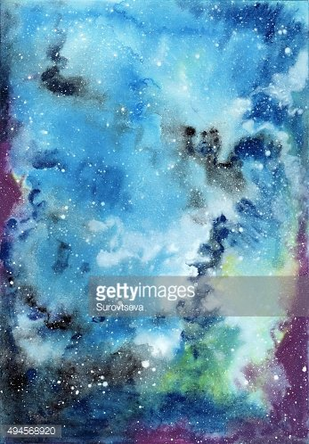 Cosmic watercolor background