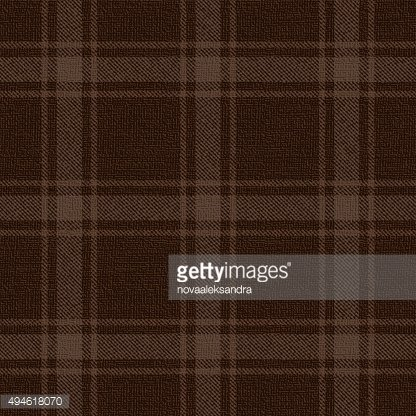 Brown plaid textured fabric vector pattern background