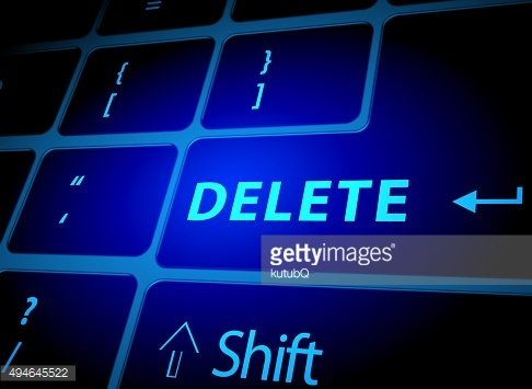 Delete button on computer keyboard