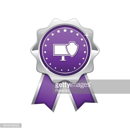 Protected Sign Violet Vector Icon Design
