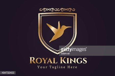 Royal bird vector shield monogram icon