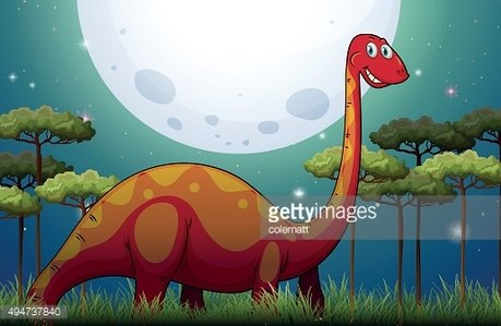 Dinosaur field night