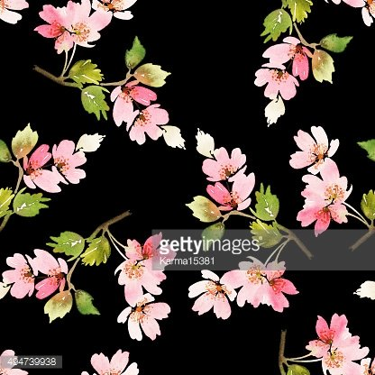 Seamless spring pattern. Watercolor painting. Well suited for th
