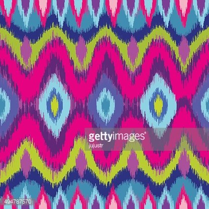 Ornamental ethnic seamless pattern with zigzag line