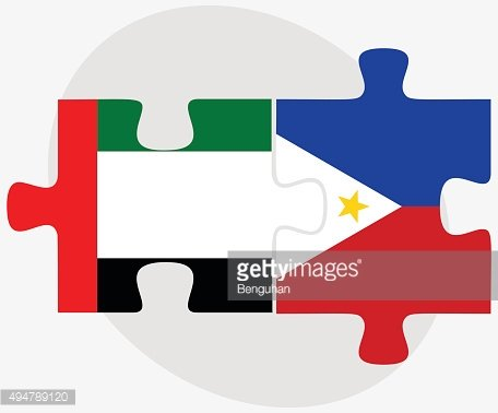 United Arab Emirates and Philippines Flags