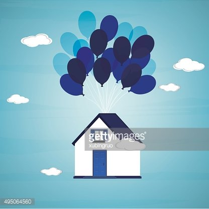 Flying balloon house