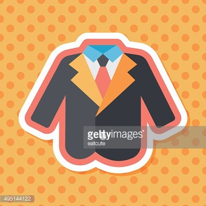 wedding grom suit flat icon with long shadow,eps10