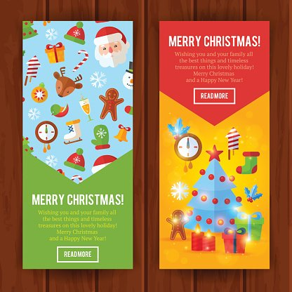 Christmas flat greeting cards and banners santa deer xmas tree christmas flat greeting cards and banners santa deer xmas tree m4hsunfo