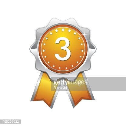 3 Number Vector Yellow Web Icon