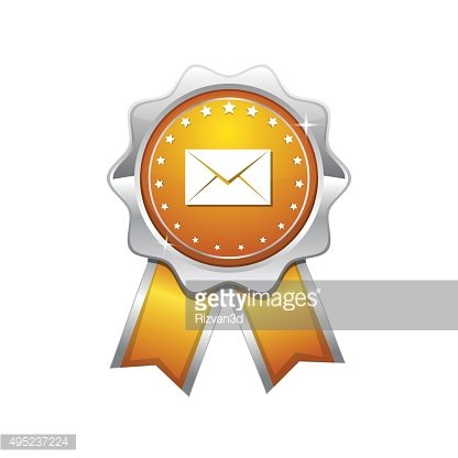 Email Vector Yellow Web Icon