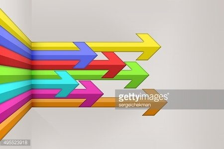 Illustration abstract arrow background.