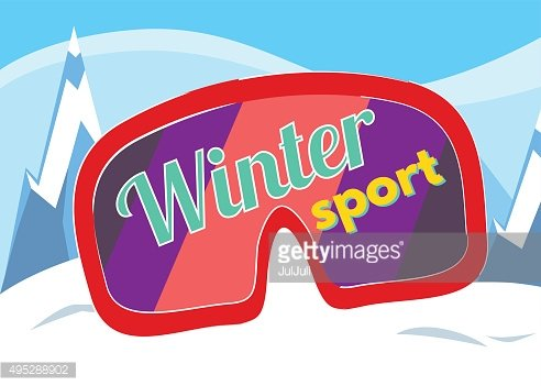 Winter sport vector